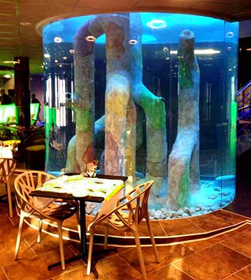 acuario decorado