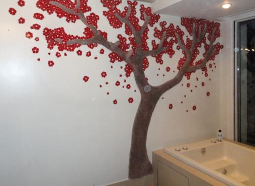 arbol en cemento