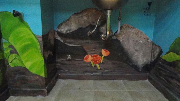 Baño Pintado De Amarillo:Pintura de selva Interior de baño Buenos Aires 2010