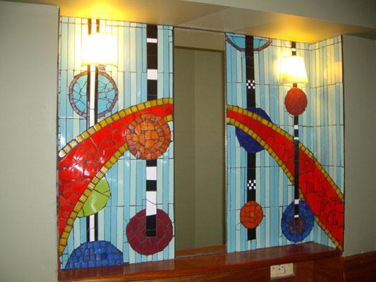 Mosaico con espejo txtarte for Mosaicos para espejos